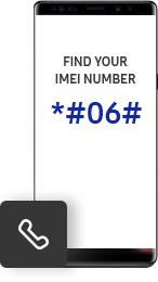 Find your imei number *#06#
