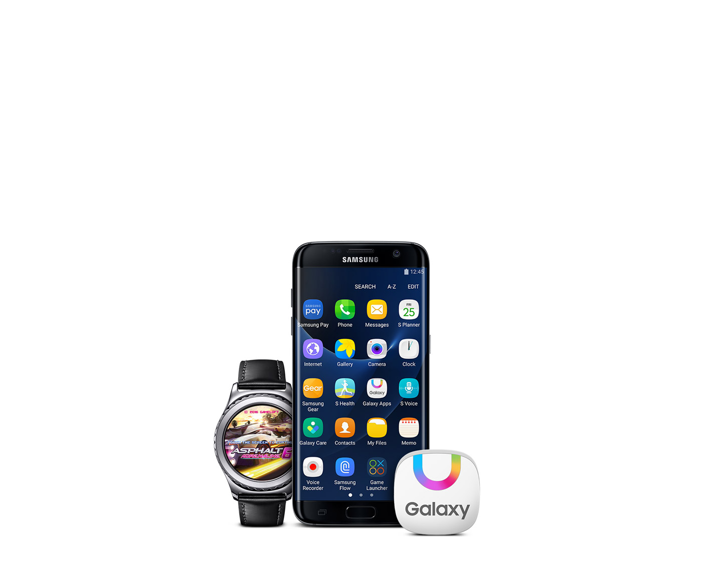 Galaxy App Store Icon On Home Screen Of Galaxy S7 Edge Which Is Synced To The