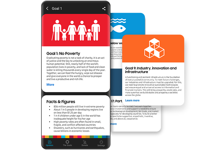Samsung Global Goals | Apps — The Official Samsung Galaxy Site