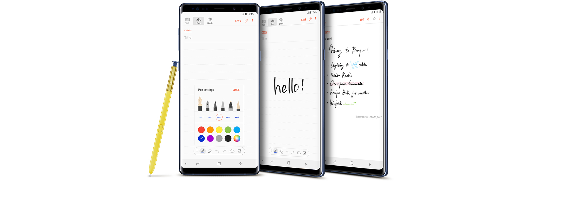 S note background image - Three Different Examples Of How To Use Samsung Notes With The Galaxy Note8 Black S S Pen