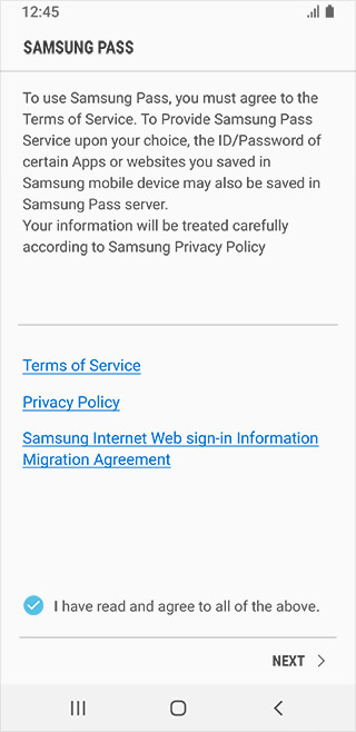Samsung Pass Apps The Official Samsung Galaxy Site