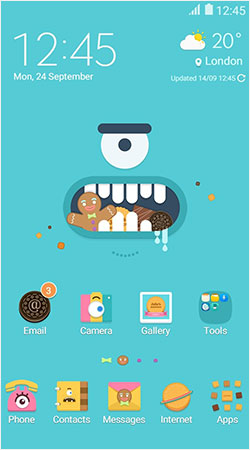 Samsung themes apps the official samsung galaxy site monster cracker theme home screen voltagebd Choice Image