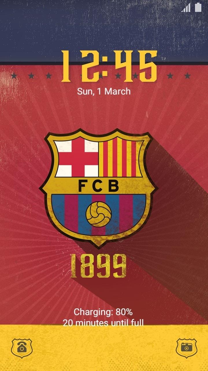 Google themes barcelona - Official Barcelona F C Vintage Wrap Theme Lock Screen