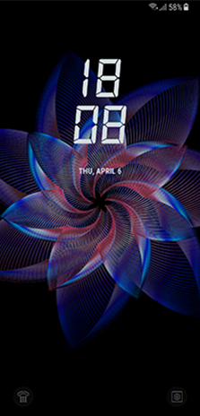 Galaxy S Midnight Black That Is Changed Lock Screen According To The Angle