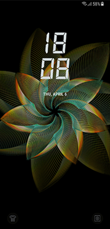 Lockscreen That Moves Naturally Depending On The Angle