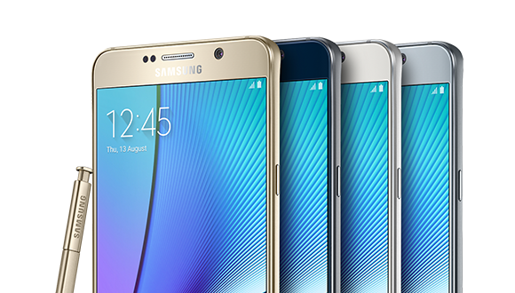Galaxy Note 5 In Four Colors