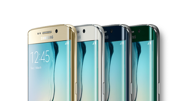 Galaxy S6 edge in four different colors