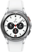 42mm silver Galaxy Watch4 Classic with white strap