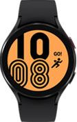 44mm black Galaxy Watch4 with black strap