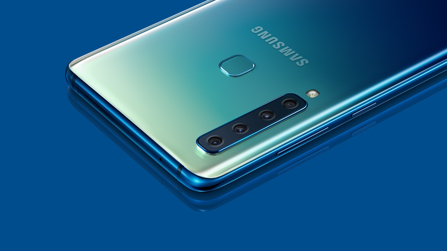 Samsung Galaxy The Official Site A6 Plus 2018 Resmi Sein A9 In Lemonade Blue Laying Screen Down And Seen From Upper Right Corner