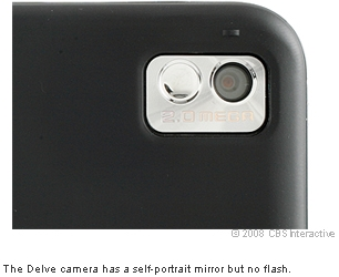 The Delve camera has a self-portrait mirror but no flash.