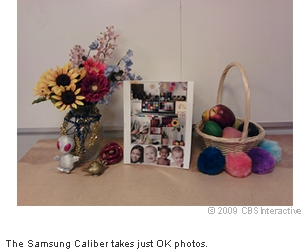 The Samsung Caliber takes just OK photos.