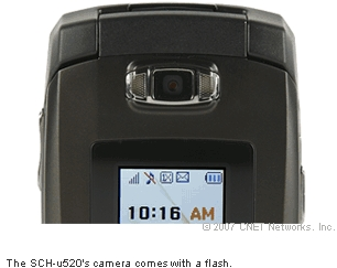 The SCH-u520's camera comes with a flash.