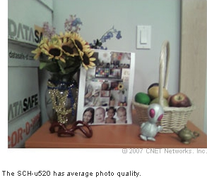 The SCH-u520 has average photo quality.