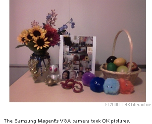 The Samsung Magent's VGA camera took OK pictures.