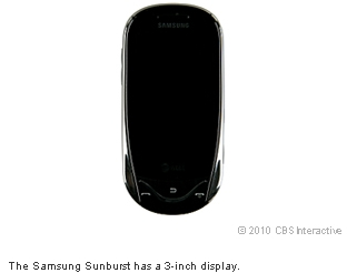 The Samsung Sunburst has a 3-inch display.