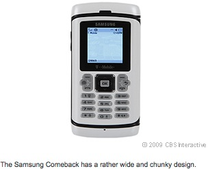The Samsung Comeback has a rather wide and chunky design.