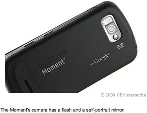 The Moment's camera has a flash and a self-portrait mirror.