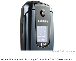 Above the external display, you'll find the Glint's VGA camera.