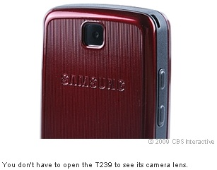 You don't have to open the T239 to see its camera lens.