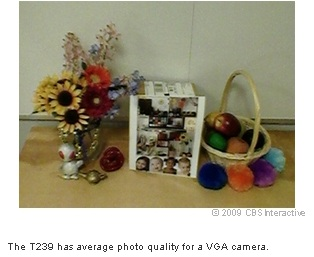 The T239 has average photo quality for a VGA camera.