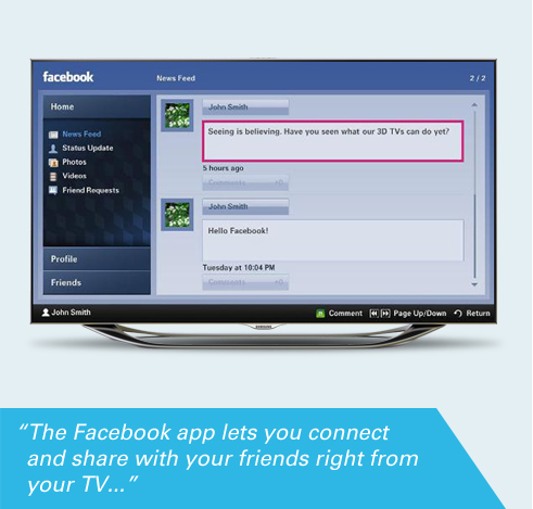 The Facebook app lets you connect and share with your friends right from 