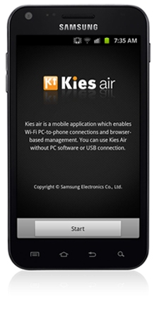 Kies Air Wireless Transfer