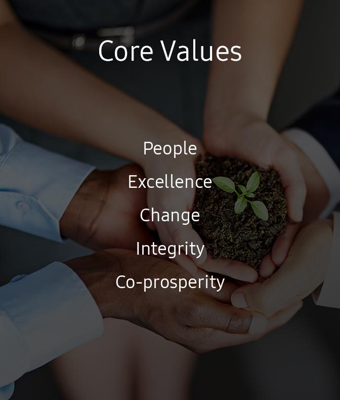 samsung core values