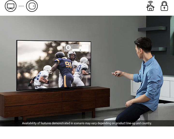 Your Samsung Smart TV can display all your connected devices, program selections and volume settings, control it all with your smartphone.