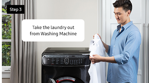 Take the laundry out from Washing Machine