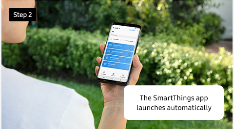 The SmartThings app launches automatically