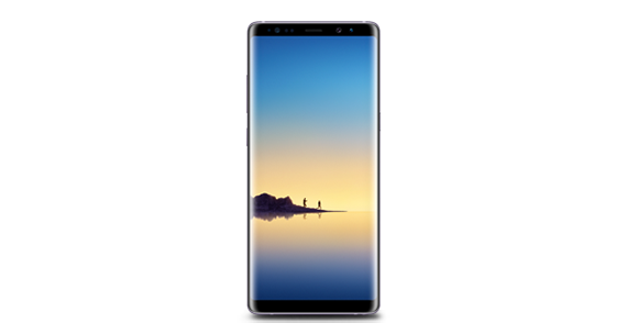 Galaxy Note 8 Front  perspective Galaxy Note 8 Learn more : Note 8 Find out more :  Galaxy Note 8