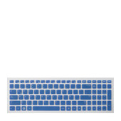 "Keyboard Skin for Series 3 15.6"" – Blue"