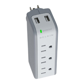Belkin 3-Outlet Surge Protector with USB Charger