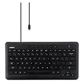 Belkin Secured Wired Keyboard for Samsung Tabs - Black