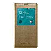 Galaxy S5 S-View Flip Cover, Perforated Gold
