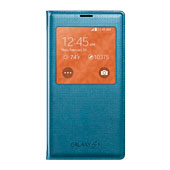 Galaxy S5 S-View Flip Cover, Perforated Blue