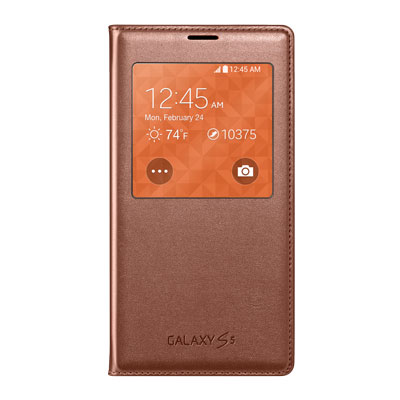 Galaxy S5 S-View Flip Cover, Rose Gold