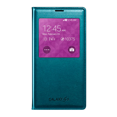 Galaxy S5 S-View Flip Cover, Green