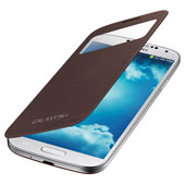 Galaxy S 4 S-View® Flip Cover, Brown