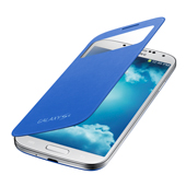 Galaxy S 4 S-View Flip Cover, Light Blue