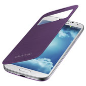 Galaxy S 4 S-View Flip Cover, Purple