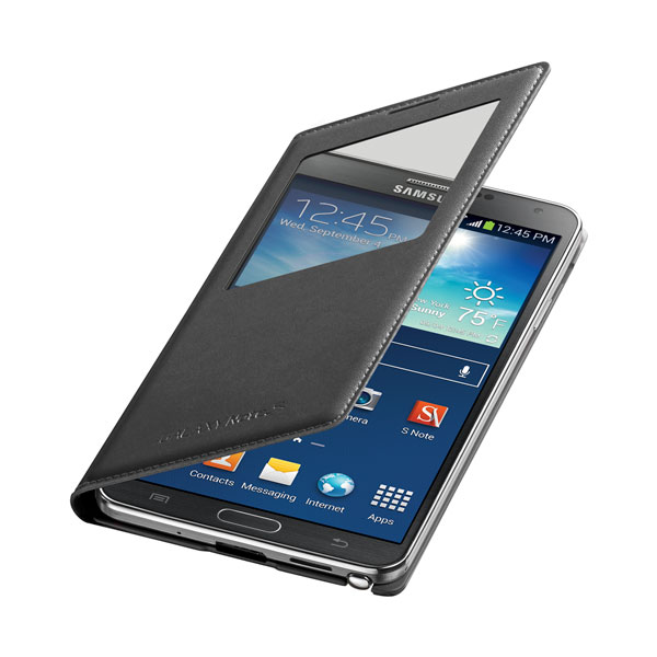 Galaxy Note 3 S-View Flip Cover, Black