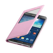 Galaxy Note 3 S-View Flip Cover, Soft Pink