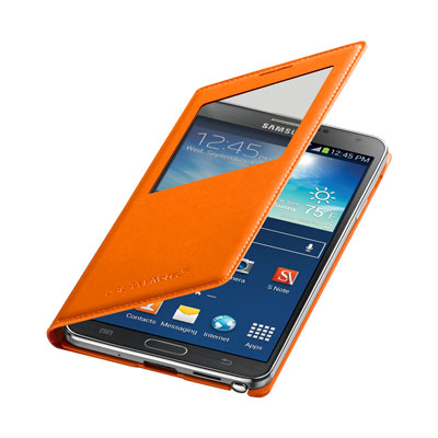 Galaxy Note 3 S-View Flip Cover, Orange