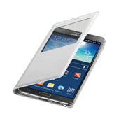 Galaxy Note 3 S-View Flip Cover, White