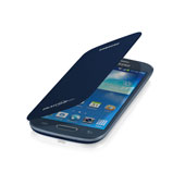 Galaxy S III Mini Flip Cover, Pebble Blue