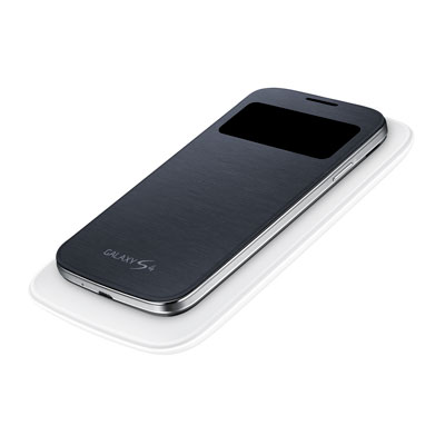 Galaxy S® 4 S-View® Flip Cover w/ Wireless Charging, Black