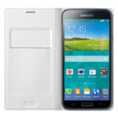 Galaxy S5 Wallet Flip Cover, White