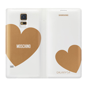 Galaxy S5 Moschino Wallet Cover, Gold Heart